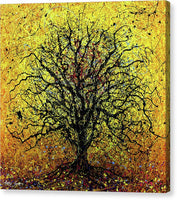 Tree 7893, Drip Painting, Artist Singh, 48x48 Inches  - Canvas Print