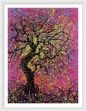 Tree, 7901 ,  Artist Singh, 30x40 Inch, Drip Painting - Framed Print