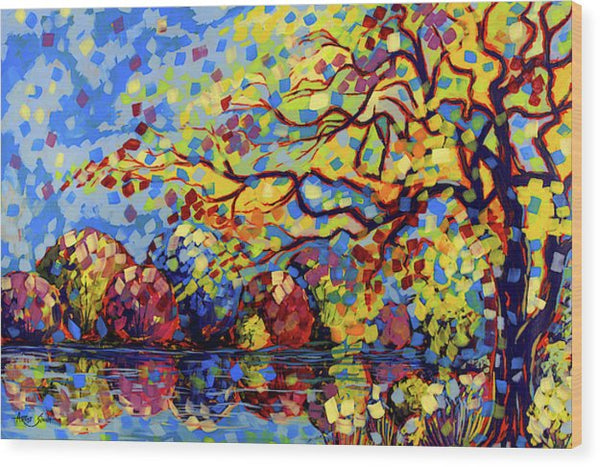 Trees, 7873 Artist Singh 63x48 Inches - Wood Print