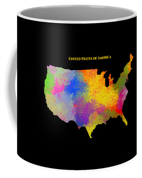 United States Of America, Map, Artist Singh - Mug