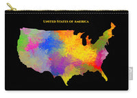 United States Of America, Map, Artist Singh - Carry-All Pouch