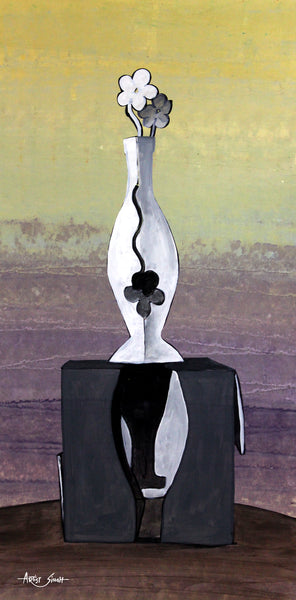 Vase on Cube by artist singh