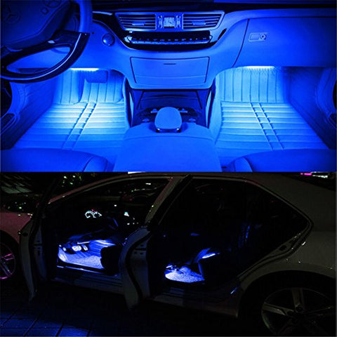 Captivating 4pc LED Car Interior Lights With Music Control I Want That Now!