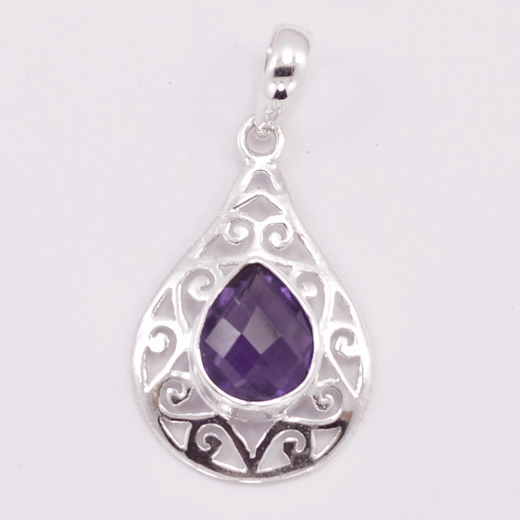 Shining appeal sterling silver amethyst pendant kraftdirect inc shining appeal sterling silver amethyst pendant aloadofball Image collections