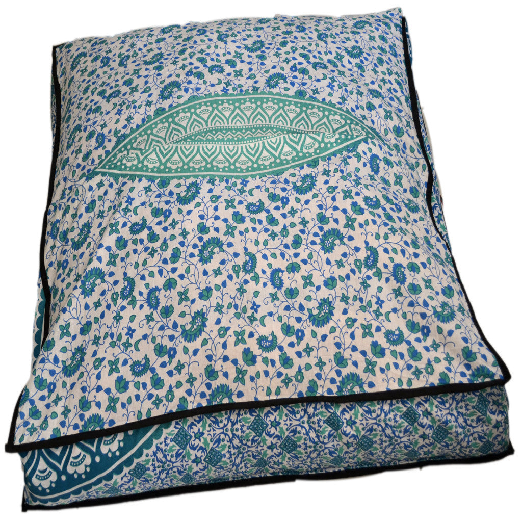Square Floor Pillows With Teel Green Ombre For Yoga – KRAFTDIRECT INC
