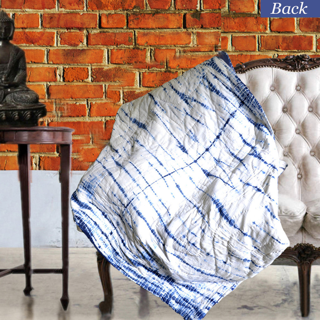 Square Patterned Tie Dye Decorative Throw For Sofa   KraftDirect