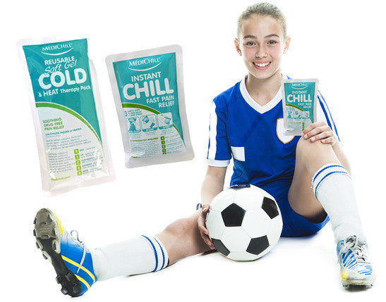 Instant Ice Packs require no refrigeration. Ideal for all sports clubs and a must for every first aid kit. Suitable for adults and children they can be used for variety of soft tissue injuries.  Gel packs are reusable and are ideally suited for both hot a