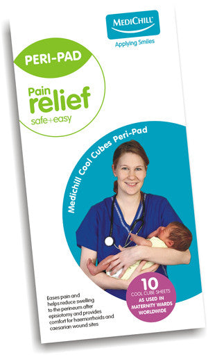 Cool Cubes Peri-Pad. Perineal tears, vaginal pain or C-Section discomfort are an unfortunate fact of life after childbirth, but it can be naturally soothed with Medichill's Cool Cubes Peri-Pad.  Our Peri-Pads can also be used to provide cooling comfort to