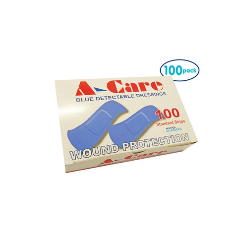 Adhesive BLUE Detectable Strips (Pack of 100)