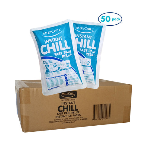 Bulk Instant Ice Packs - 50 Pack