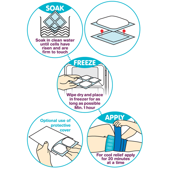 HOW TO USE MEDICHILL ICE PACKS