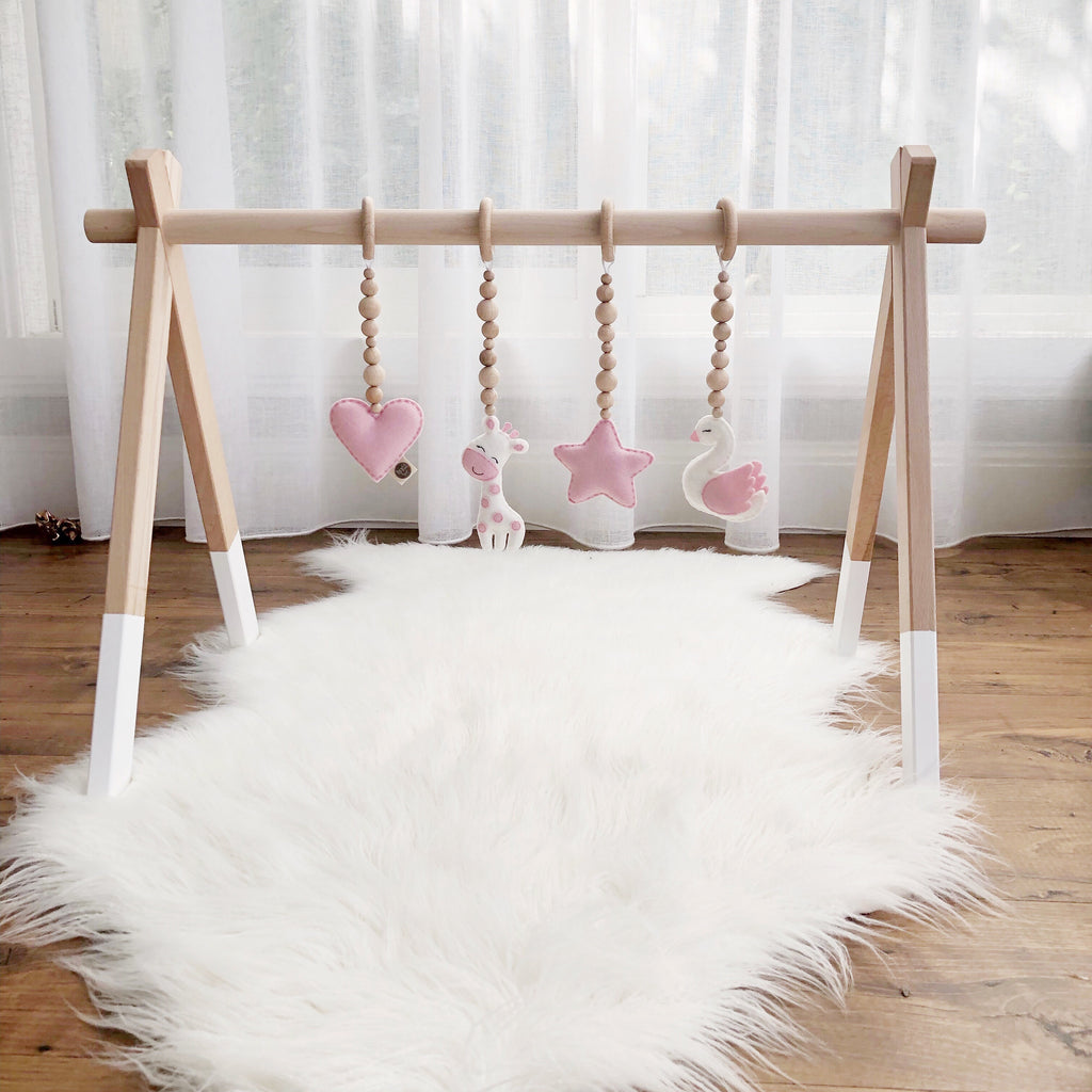 Wooden Play Gym with toys