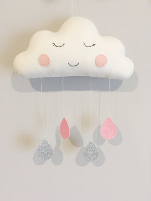 Large felt cloud Mobile