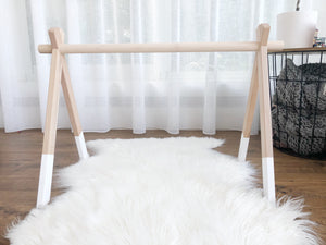 Wooden Play Gym (no toys)