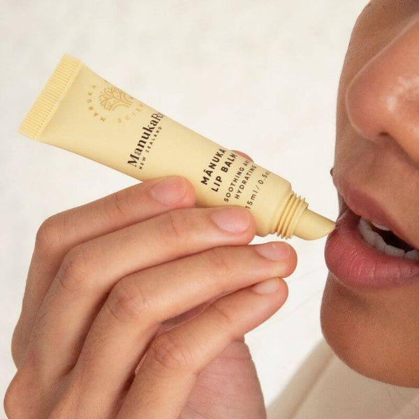 How Mānuka Oil Looks After Your Lips For You image of ManukaRx Lip Balm.