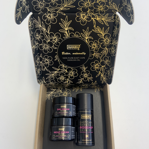 Christmas Gift Guide-Pro-Aging Trio-Manuka Oil Skincare-Anti-Aging