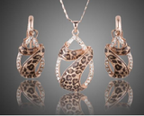 Leopard Necklace and Earrings Set