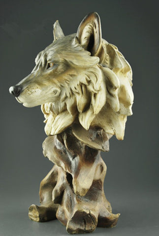 Wolf Head Abstract Sculpture