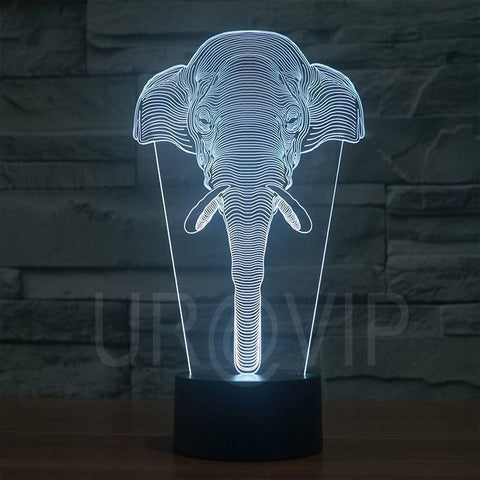 Elephant 3D LED Lamp