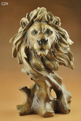 Lion Head Abstract Sculpture