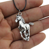horse-necklace-silver-tone