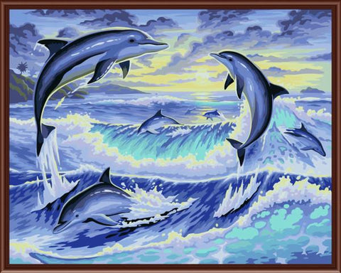 dolphin-picture-paint-by-numbers