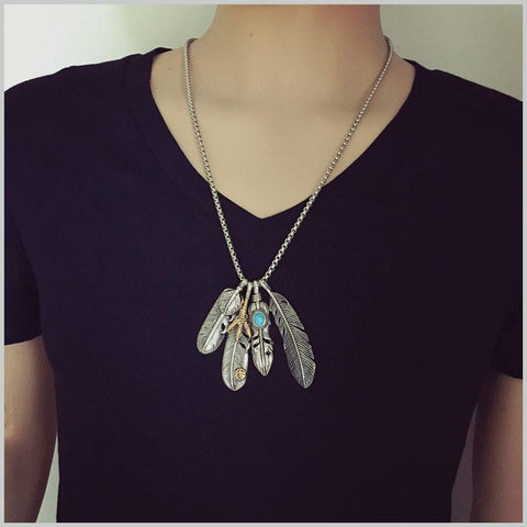 Eagle Necklace Feather