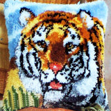 Tiger Latch Hook Cushion Cover Kit