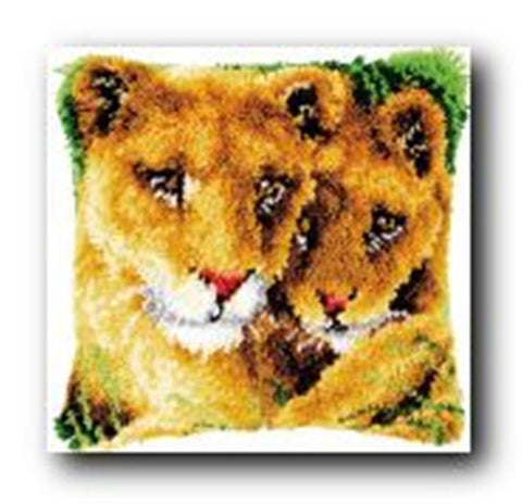 Lion Latch Hook Cushion Cover Kit