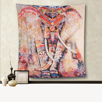 Elephant Wall Hanging or Bed Spread