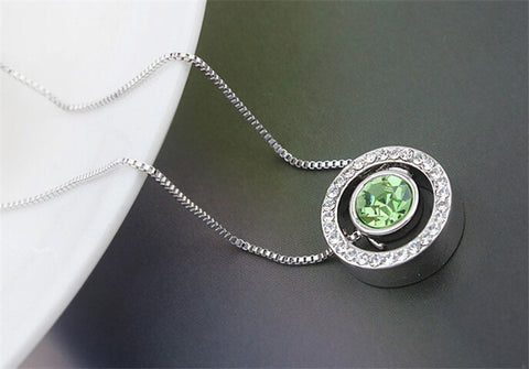 Austrian Crystal Round Necklace