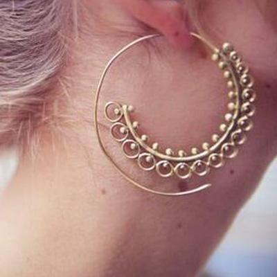 circle-earring-leaf