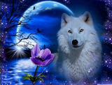 Wolf & Moon Diamond Mosaic
