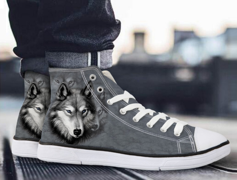 Wolf High Top Casual Shoes