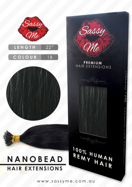 Nanobead Hair Extensions - #1b