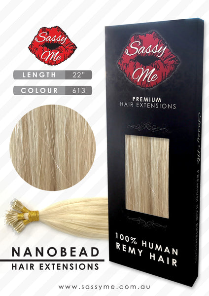 Nanobead Hair Extensions - #613