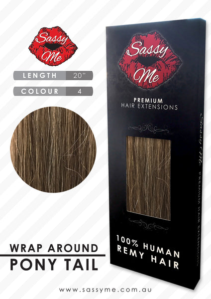 Wrap around Ponytail Extensions - #4 20 inch