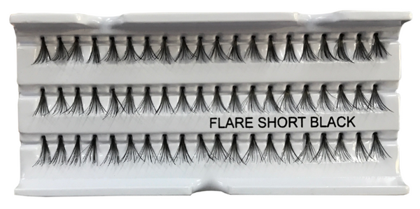 Eyelash Extensions: Flare SHORT Black: 12mm