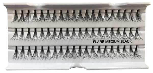Eyelash Extensions: Flare MEDIUM Black: 12mm