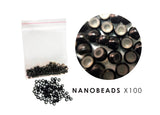 Silicone Lined Nano Beads - BLACK (approx 100 beads)
