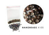 Silicone Lined Nano Beads - BROWN (approx 100 beads)