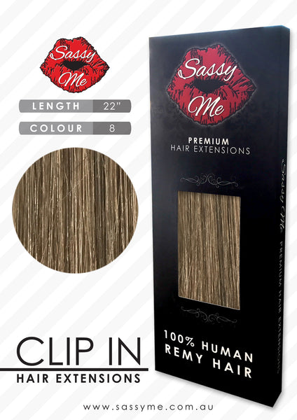 Clip In Hair Extensions - #8