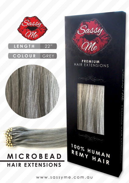 Microbead Hair Extensions - #Grey