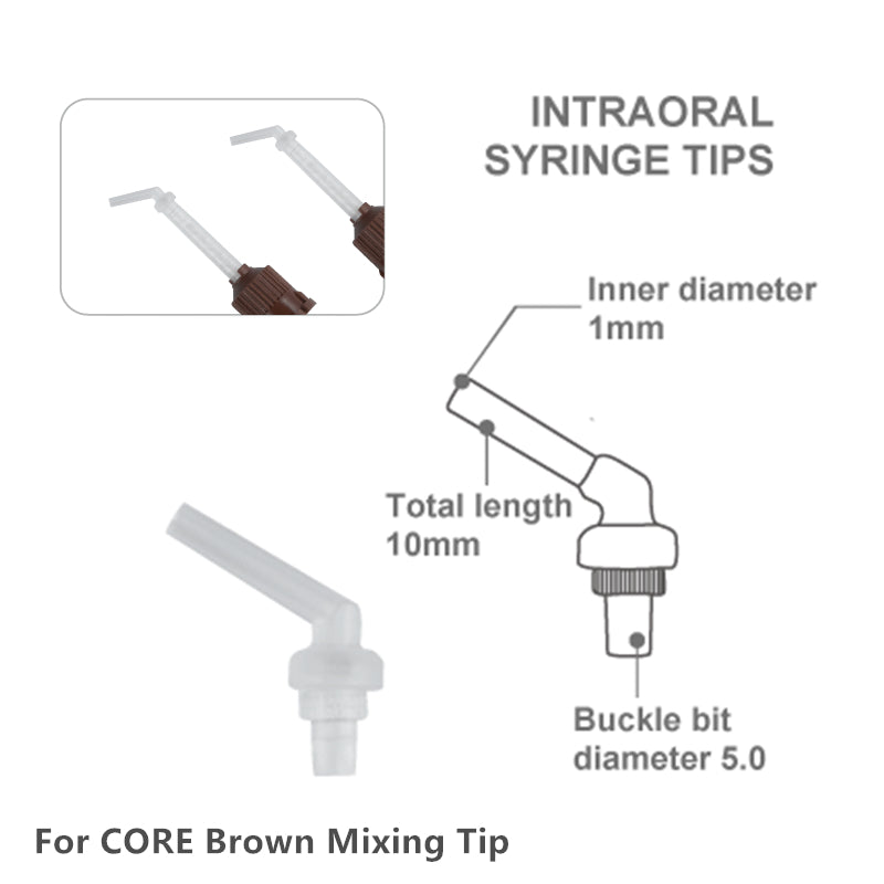 INTRAORAL SYRINGE NOZZLES FOR CORE BROWN MIXING TIPS 1000 PCS