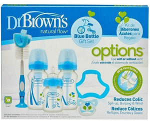 Dr Browns Bottles & Accessories Dr. Brown's Original Options Wide Neck Bottle Blue Giftset