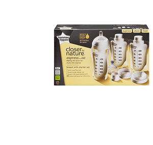 Tommee Tippee Baby Bottles Closer to Nature Express and Go Breast Milk Starter Set