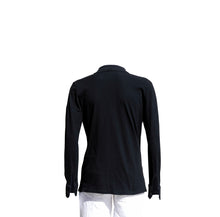 Long Sleeve Polo Shirt – Black