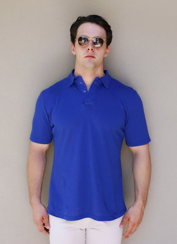 Short Sleeve Polo – Royal Blue