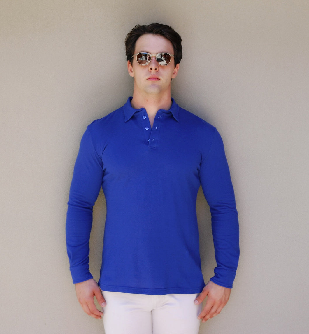 Long Sleeve Polo – Royal Blue