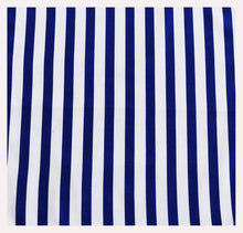 Royal Blue Nautical Stripe Pocket Square